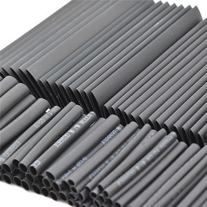 Image 1 - 127pc Black Heat Shrink Tube Assortment Wrap Electrical Insulation Cable Tubing Assortment Polyolefin