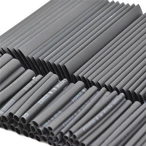 Cable Tubing Assortment-Wrap Heat-Shrink-Tube Electrical-Insulation Black 127pc