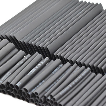 Black Heat Shrink Tube Assortment Wrap Electrical Insulation Cable Tubing Assortment Polyolefin
