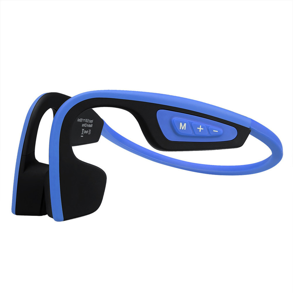 LF-19 Wireless Bone Conduction Bluetooth Neckband Style Handsfree Headphones Outdoor Sport Noise Cancelling Earphone With Mic bone conduction earphones headset over ear headphones active noise cancelling hifi neckband for music listening to the phone