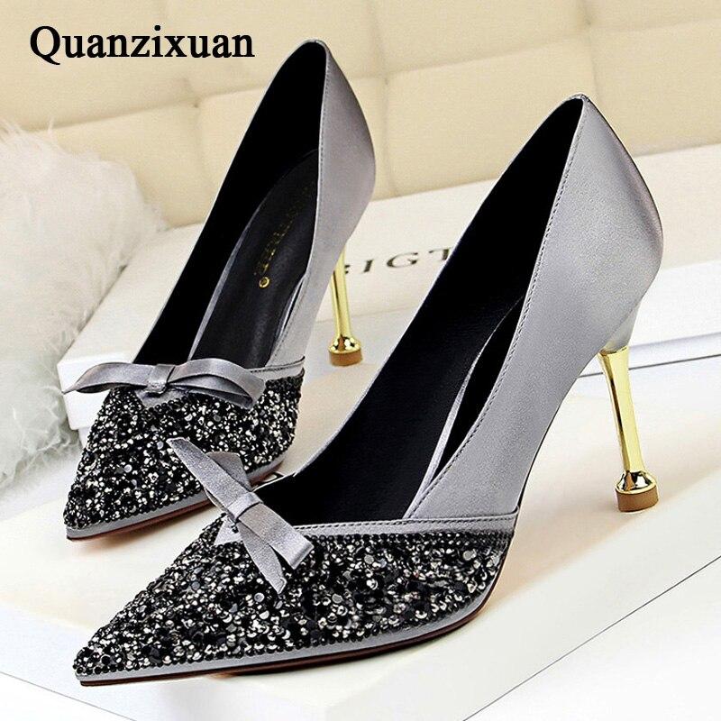 31782fb4663e Quanzixuan/Новинка 2019 года, весенние женские туфли-лодочки, ...