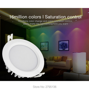 Image 5 - 6W RGB + CCT 방수 led downlights FUT063 IP54 220v recessed led 라운드 천장 패널 스포트 라이트 실내 거실 욕실