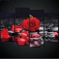 4PCS Flowers, roses diy full Diamond Embroidery Picture of Rhinestones diamond Mosaic Cross Stitch Diamond Painting 5d