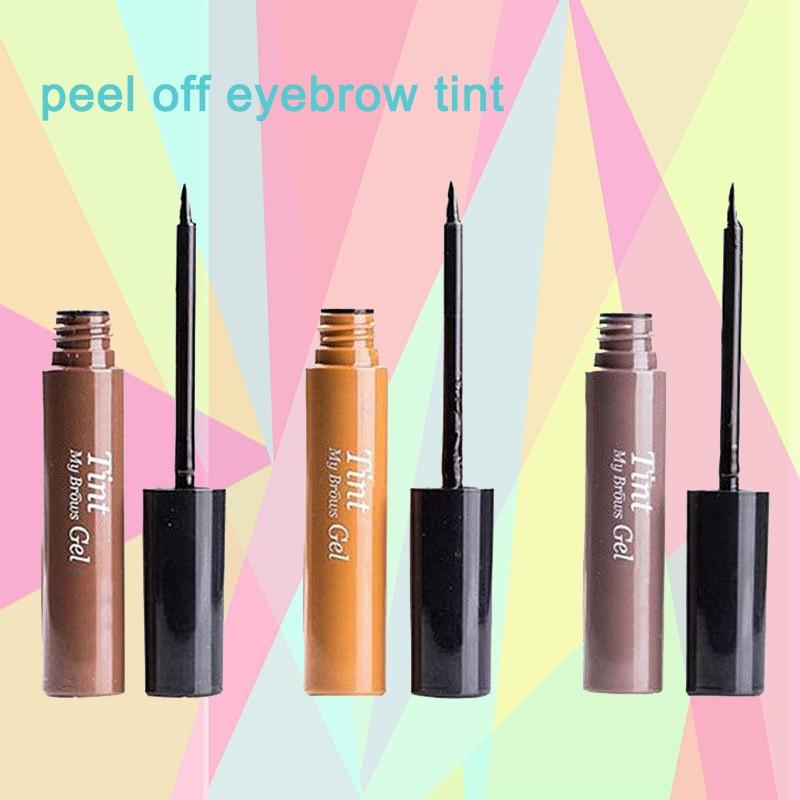 2018 New Peel Off Eyebrow Enhancers Makeup EyeBrow Gel Waterproof Eyebrow Tint My Brow Gel Beauty Gray Brown Color