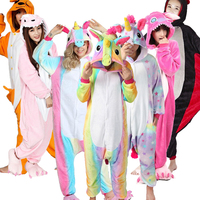 Wholesale Animal Stitch Unicorn Panda Bear Koala Pikachu Onesie Adult Unisex Cosplay Costume Pajamas Sleepwear For