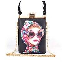 Flower Women Evening Bags Designer Clutch Floral Print Handbags Luxury PU Leather Tote Box Women Famous