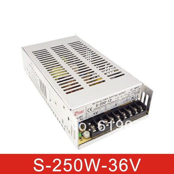 250W 36V Single Output Switching power supply for  FSDY  AC to DC led 1200w 12v 100a adjustable 220v input single output switching power supply for led strip light ac to dc