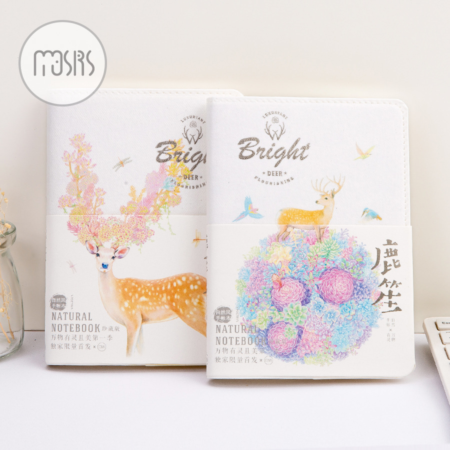 Creative Lovely Deer Schedule Book Diary Weekly Planner Notebook  Sketch Book School Supplies Gift 1pc creative cute cartoon animal planner notebook diary book wooden school supplies student gift