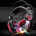 Ordenador Diadema Gaming Luminoso Auriculares HD con Micrófono para PC Subwoofer Grande Headset Stereo Bass Auriculares de 50mm Unidad