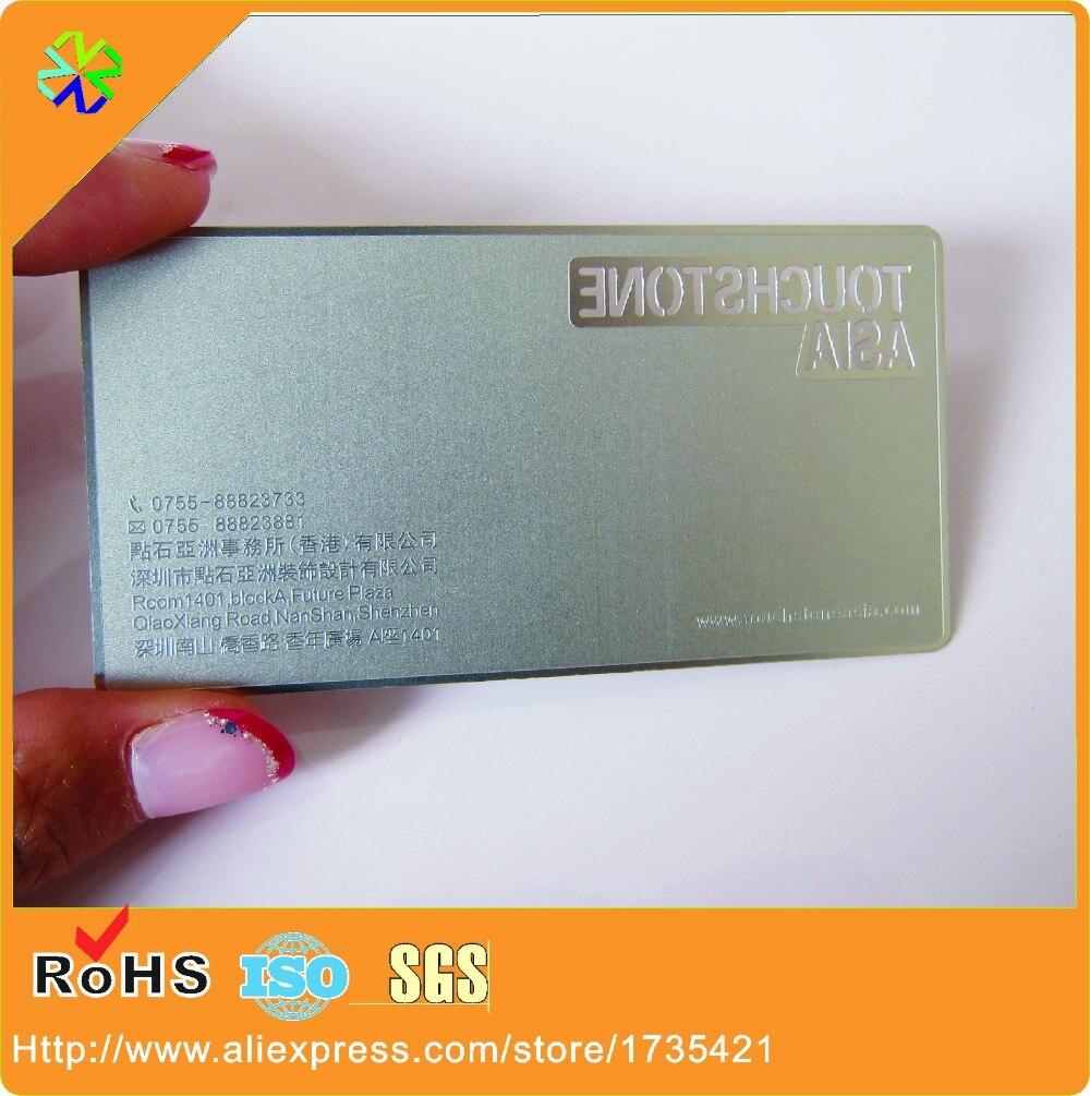 1000pcs/lot metal card / stainless steel metal business cards / etched metal business cards
