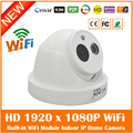 Hd Wi Fi Dome Ip Camera 2.0mp 1080p Onvif Indoor Infrared Night Vision Surveillance White Webcam Motion Detect Freeshipping Hot