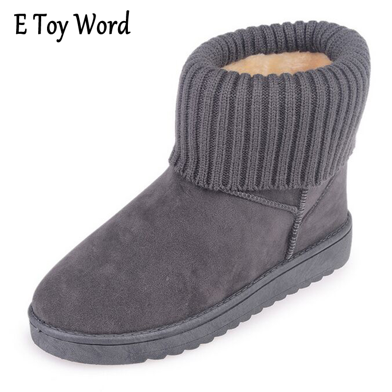 E TOY WORD Snow Boots Women Non-slip Winter Ankle Boots for Women Fashion Fur Warm Winter Platform Boots Casual mujer bottes e toy word boots women fashion autumn martin boots warm women shoes ankle boots for women winter botas mujer wedges ankle boots