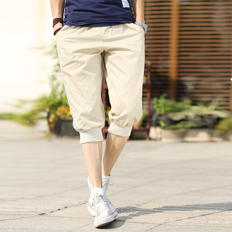 Summer 7 Minutes Men's Trousers Thin Style Summer Pants Korean Version Of The Small Foot Closed Breeches Casual Pants
