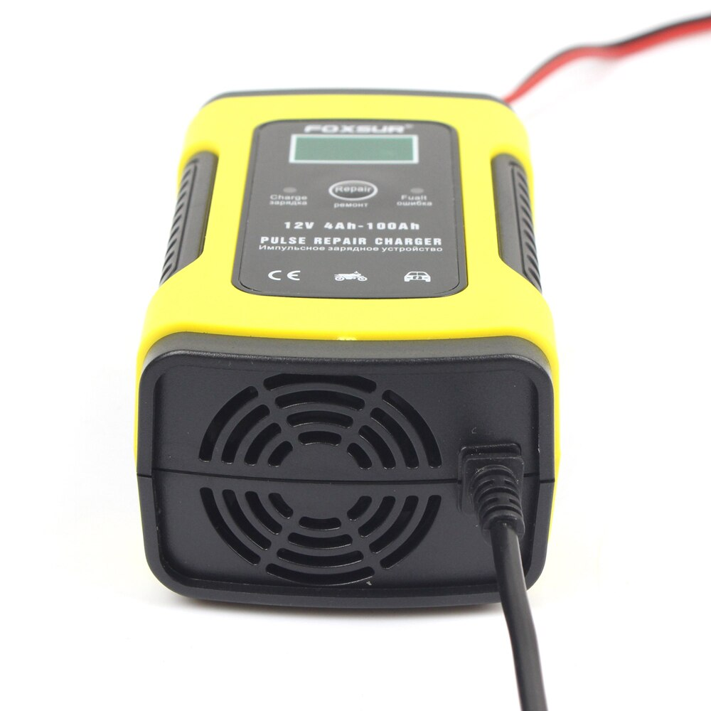 Image 3 - 12V 5A LCD Car Motorcycle Pulse Repair Battery Charger Lead Acid Storage Charger For Tesla Model 3 Bmw E46 E90 Ford Focus 2 Audi-in Battery Charging Units from Automobiles & Motorcycles