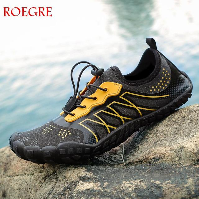 f1dc8b4bb84d Summer New Men Beach Wading Casual Shoes Swimming On Surf Quick-Drying  lace-up Unisex Sneakers Multifunction man Water Shoes