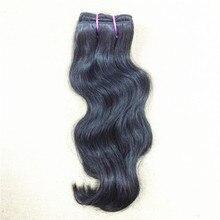 1 bundle Virgin Indian Natural Wavy Hair Sample 100% Indian temple hair Bouncy wavy natural color can be dye100g/bundle
