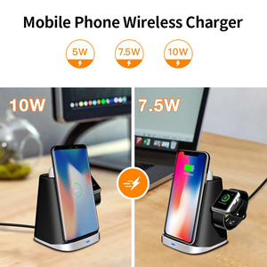 Image 3 - Fast Charge Wireless Charger Stand For Iphone XS XR 11 3 In 1 Wireless Charger Dock Station For Apple Watch Airpods Stand