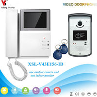YobangSecurity Home Security Video Intercom 4.3Inch Monitor Video Doorbell Door Phone Intercom Camera Monitor System Apartment