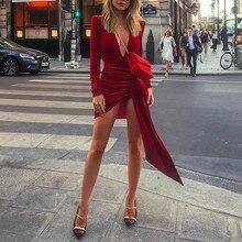 Sexy Dress Club Wear Party Dress 2019 New Arrivals Women Bandage Dresses Bodycon Vestidos Long Sleeve Nightclub Mini Dress