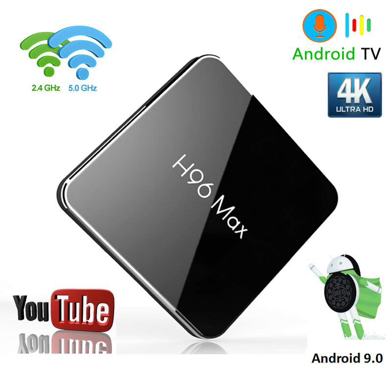 Android 8.1 tv box H96 MAX X2 Amlogic S905X2 LPDDR4 Smart TV Box Youtube commande vocale H.265 4 K 1080 p 2.4G & 5 GHz Wifi android box