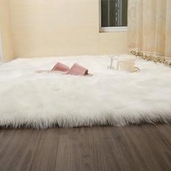 Muzzi moda tapete quarto decoração piso macio quente colorido sala de estar tapetes longos antiderrapante tapetes 007