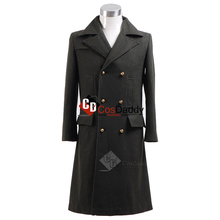 CosDaddy Doctor Who 11th Cosplay Capa de traje Undécimo Doctor Green Wool