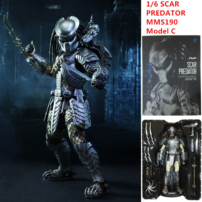 AVP Doll SCAR PREDATOR MMS190 Action Figures Model C 1/6 Scale Movable M18 Pre-Painted Alien Vs. Predator Toys 32cm