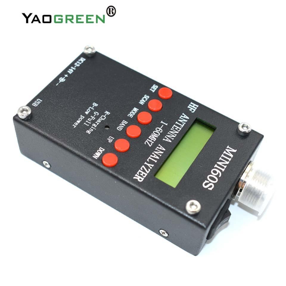 USB высокой точности bluetooth Android HF ANT анализатор SWR 1-60 мГц Mini60 MINI60S антенны метр для любительского радио C4-006
