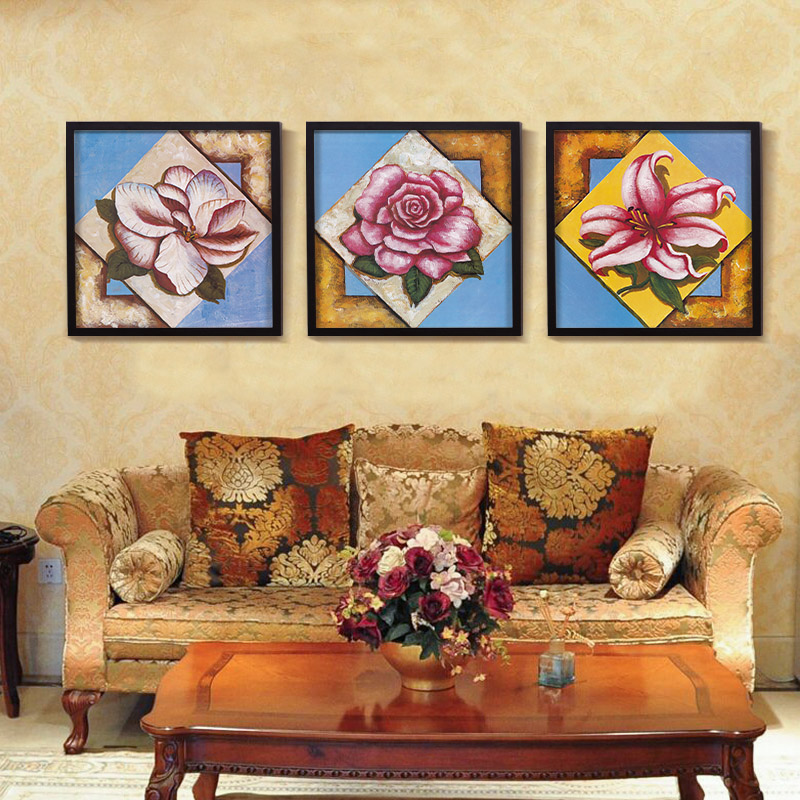 Canvas Wall Art Painting Valentine Best Gift Love Rose Flower Oil ...