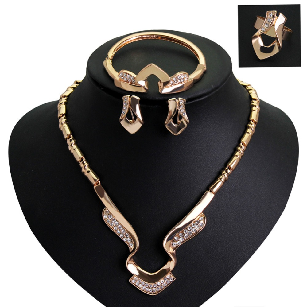 Drop Shipping New Design Vintage Necklaces Earrings Bracelet Jewelry Sets Fine Jewelry WITH Clavicle Chain