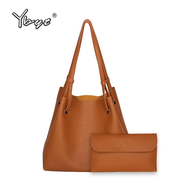 YBYT brand 2017 new bucket soft handbags hotsale fashion PU leather vintage women satchel lady shoulder messenger crossbody bags  недорого