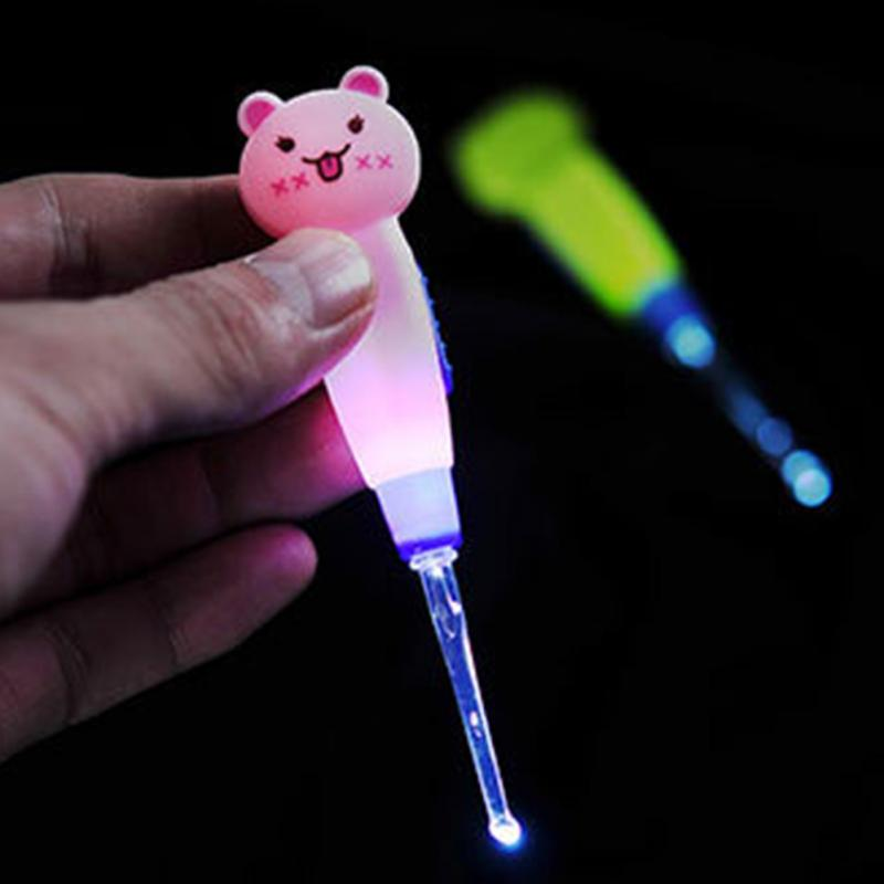 Baby Adults Care Ears Cleaning With Light Earwax Spoon Digging Luminous Dig Ear Syringe Japanese Style Japanese Style