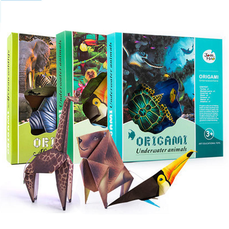 Animals:  3D Art Origami Craft Children Toys Funny Mamual Origami juguetes Montessori Toys Educational jouet enfant Marine Animals Birds - Martin's & Co