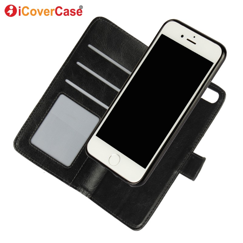 For iPhone 7 Plus Case Cover 2 in 1 Detachable Magnetic Flip Leather Wallet Funda Capa