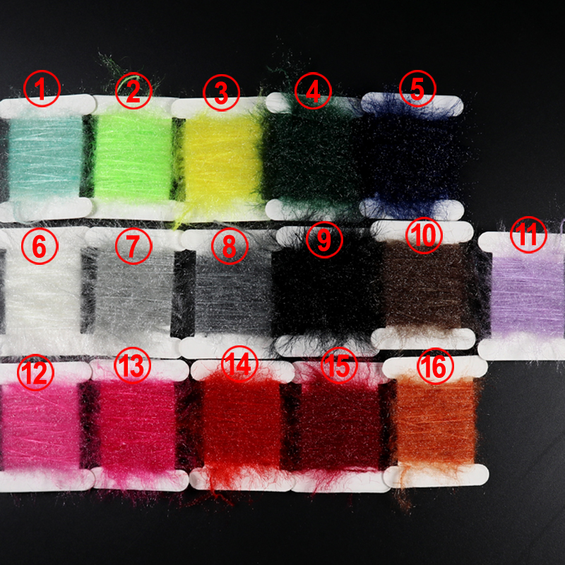 [5M/Pack] Fly Tying Sparkle Chenile Black Red Green Blue Peach Brown Color Scud Nymph Sand Worm Tying Dubbing Floss for Fishing