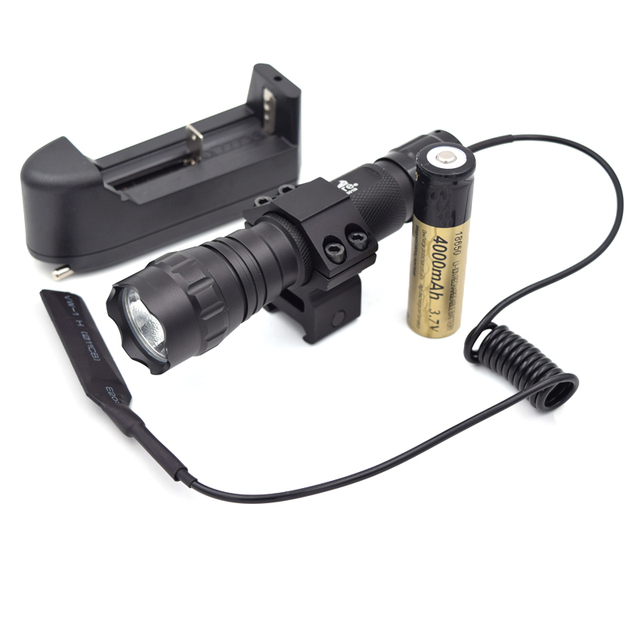 2000 Lumen XML T6  LED Tactical Flashlight 1 Mode Handheld Hunting Caming Linternas Lantern led Torch + Battery+ Charger+ Mount