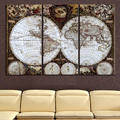 Ancient Roads world map Canvas Painting Oil Painting Print beautiful Home Decor Art map Wall Picture For Living Room Unframed