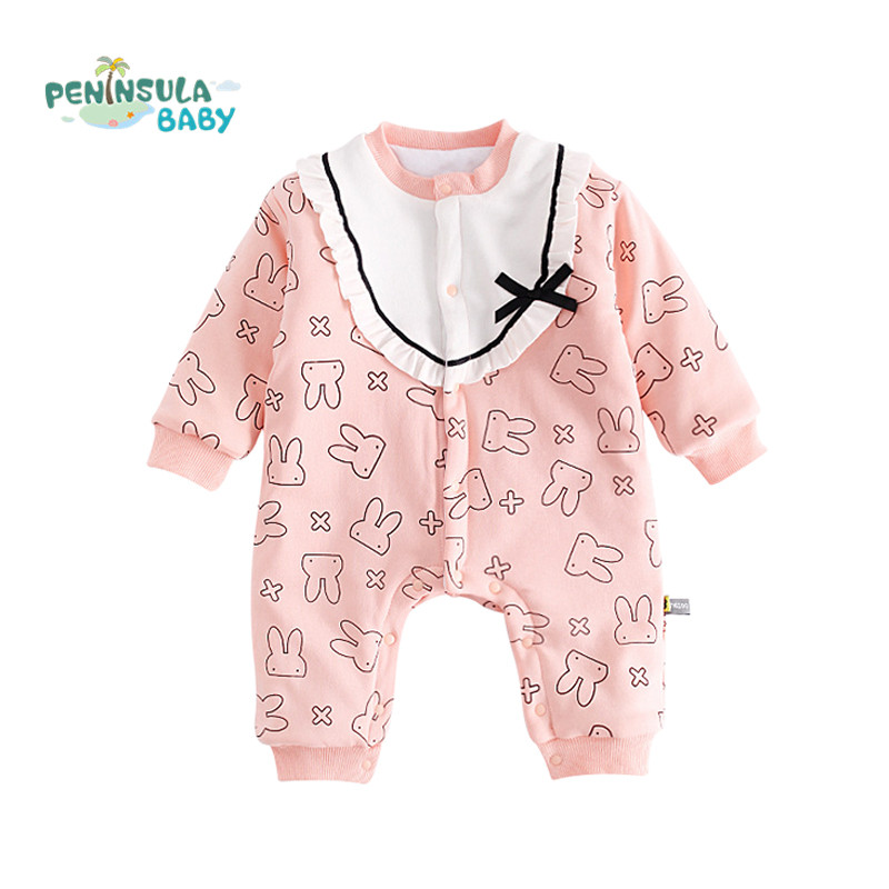 Newborn Rompers Winter Warm Long Sleeve Cotton Overalls Toddler Baby Boys Girls Clothes Jumpsuit Baby Pajamas Snowsuit Costume sanlutoz baby rompers set newborn clothes baby clothing boys girls brand cotton jumpsuits long sleeve overalls coveralls winter