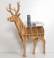 Large Elk shape Book shelf living room decoration storage shelf rack