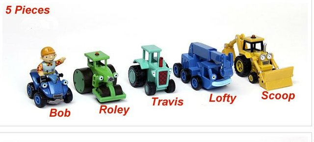5pcs Bob The Builder  metal  Construction Vehicles Models collection kids gifts(Mix order)