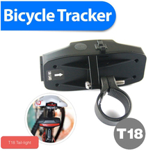 LED Taillingt bike gps trackers 2200mAh Long Battery Life Hidden Installation Real Time Tracking Bicycles ,bike spy tracking