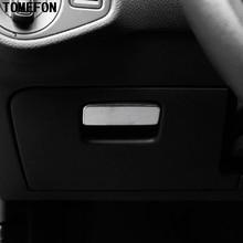 Tomefon Volkwagen VW Гольф 7 MK7 2013 2014 2015 ABS Chrome Матовая Внутренняя передняя Драйвер перчатки коробка для хранения ручки крышка отделка