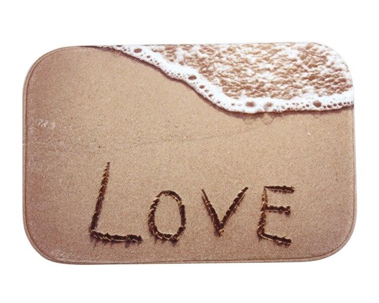 Beach LOVE Printed Floor Mat Home Bedroom Door Mat Carpet 40X60 Cm Anti Slip Carpet Soft ...