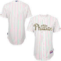 MLB Men's Philadelphia Phillies Baseball White Fashion Authentic USMC Team Jersey