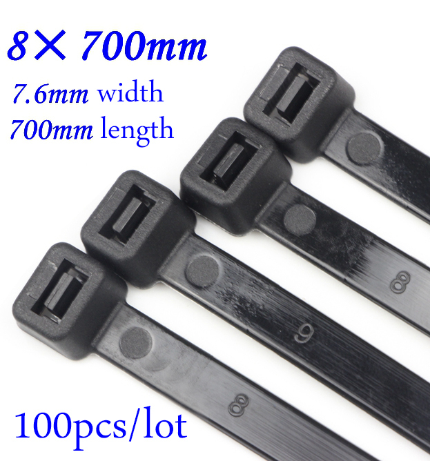 100 x Natural Releasable Cable Ties 300mm x 4.8mm Reusable Wire Tidy Zip Straps