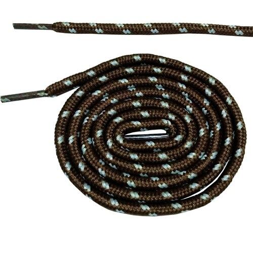 Круглые ботильоны без шнурков шнурки с точками 10 цветов 180 см/70,5 дюйма - Цвет: brown and white