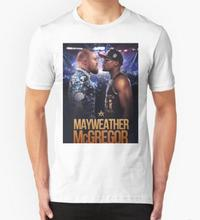 New Fashion Men T Shirts mayweather vs mcgregor 2016 Round Neck Top Tees Man Clothing Short Sleeve T-Shirts Male Hot Summer