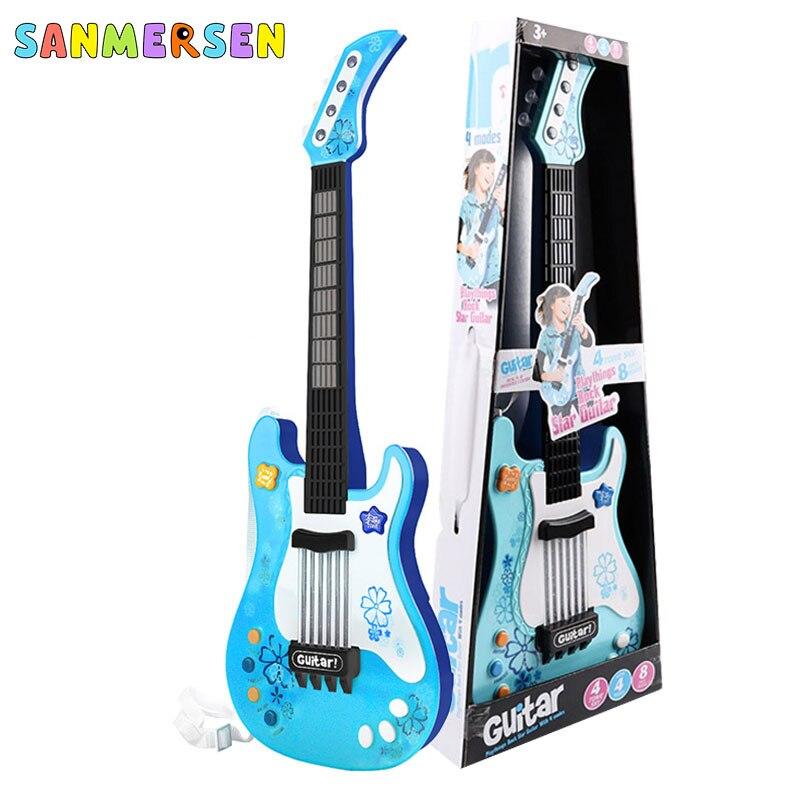 Pop Guitar Simulation Toy Ukulele Children Baby Educational Wisdom Toys Kids Musical Instrument Toys Christmas Birthday Gifts