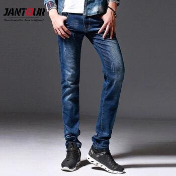 lujo Slim hombre Casual pantalones caliente algodón blue hombres Jantour jean hombres hombre 2018 sólido venta Stretch jeans nuevo marca Denim de para la wCUCqEnFz
