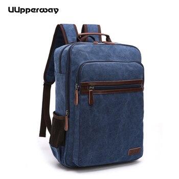 2018 Style Men Backpack Vintage Casual Canvas Backpack School Bags For Male Men's Large Backpacks Multifunction Laptop Backpack